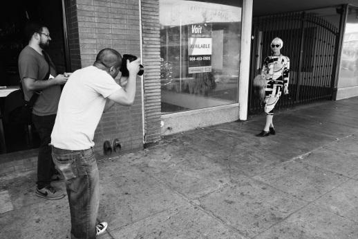 Rodney Alan shooting for NYLON Magazine